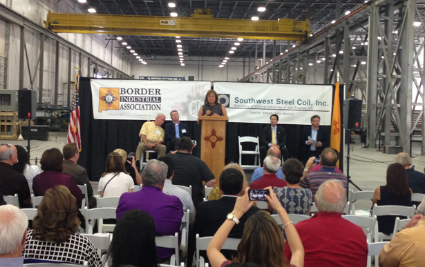 Governor Martinez Celebrates the Success of IBA Client, Southwest Steel Coil